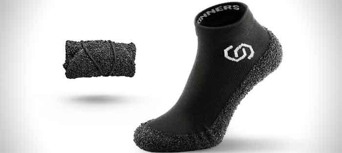 Die Skinners-Socke in schwarz