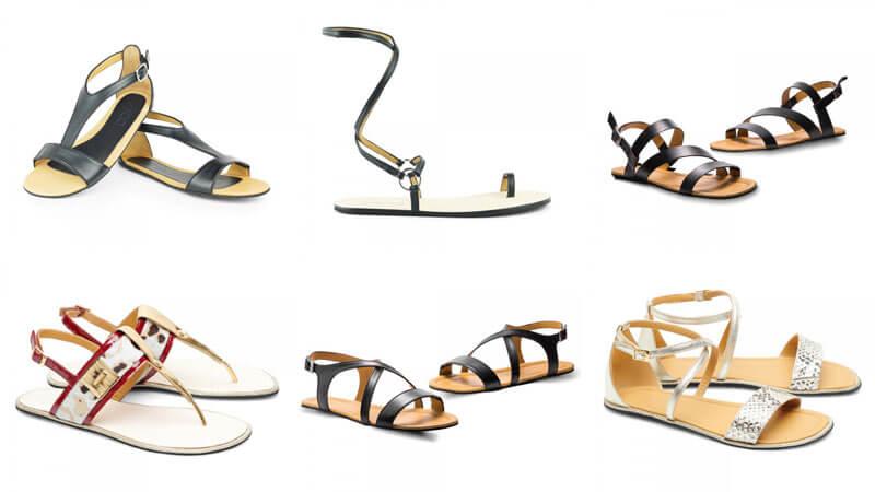 Man sieht sechs Sandalen-Modell von ZAQQ