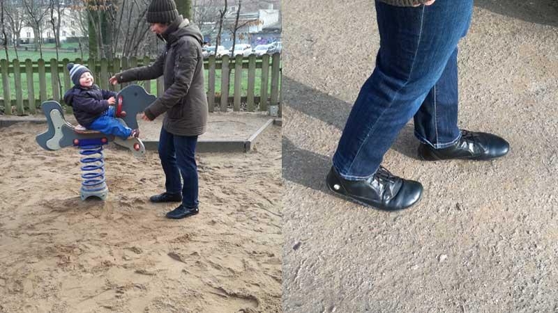 Der fancyToes passt wunderbar zum ungezwungen Freizeitlook, zum Beispiel zu Jeans und lockeren Hosen