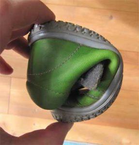 Die Filii Schuhe sind sehr flexibel und lassen sich leicht verbiegen