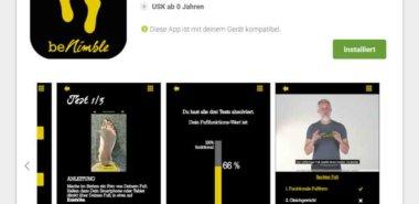 Neue Joe Nimble App testet die Fitness ihrer Füße